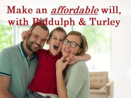 make an affordable will with Biddulph & Turley